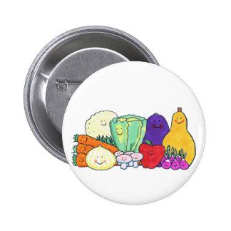 Veggies 6 Cm Round Badge