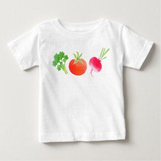 Veggies Broccoli, Tomato and Beet baby tshirt
