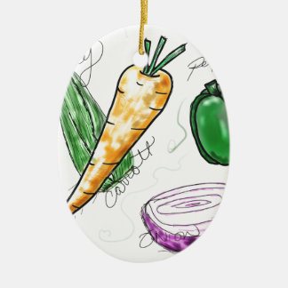 Veggies Christmas Ornament