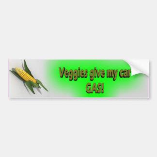 Veggies Give My Car Gas Sticker Bumper Sticker