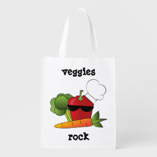 Veggies Rock Reusable Grocery Bag