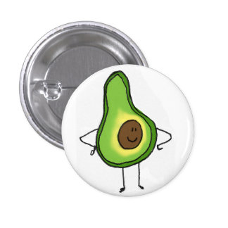 Veggies Save The Day Avocado Button