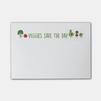 Veggies Save The Day Post-It Notes