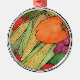 veggies Silver-Colored round decoration