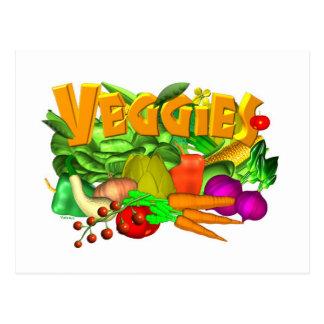 Veggies vegetable salad by Valxart- Post Cards