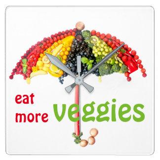 veggies wallclocks