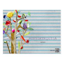 Veggies Watercolor VINTAGE Post Cards