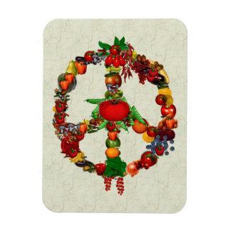 Vegie Peace Sign Rectangular Magnets