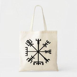 Vegvísir (Viking Compass) Budget Tote Bag