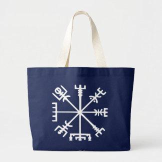 Vegvísir (Viking Compass) Large Tote Bag