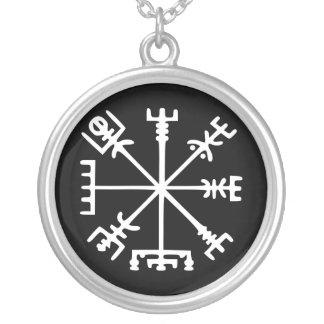 Vegvísir (Viking Compass) Silver Plated Necklace