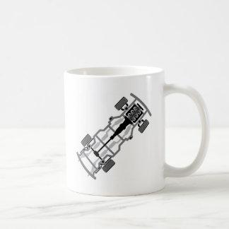 Vehicle frame basic white mug
