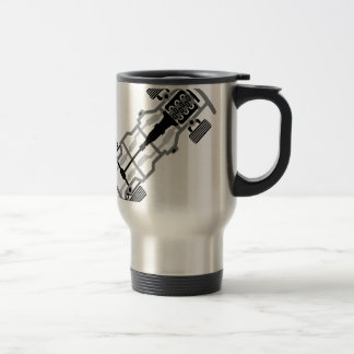 Vehicle frame travel mug