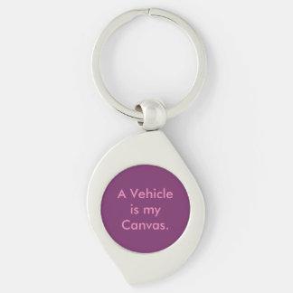 Vehicle Repair Car Painter Silver-Colored Swirl Key Ring