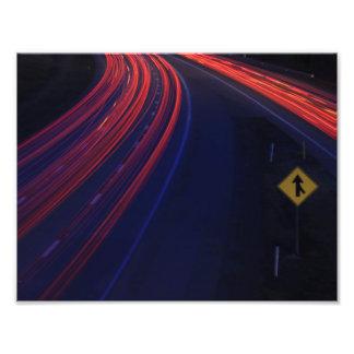Vehicle Traffic Tail Light Trails Art Photo