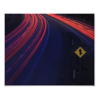 Vehicle Traffic Tail Light Trails Photo Art