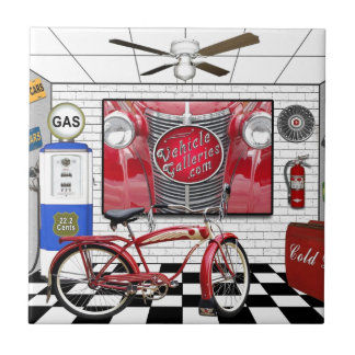 VehicleGalleries.com gifts Small Square Tile