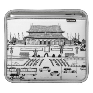 Vehicles in Pagoda iPad Sleeve