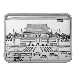 Vehicles in Pagoda MacBook Sleeve