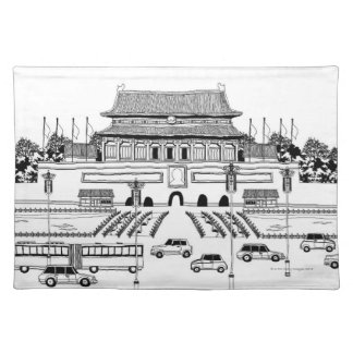 Vehicles in Pagoda Placemat