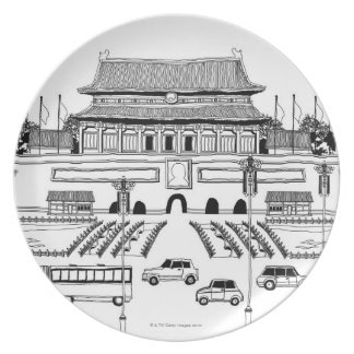 Vehicles in Pagoda Plate