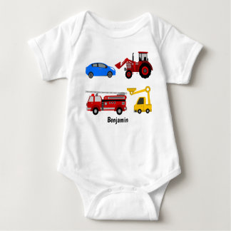 Vehicles Vest Baby Bodysuit