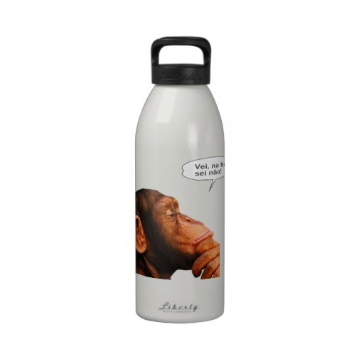 Vei, na boa, sei não. water bottles