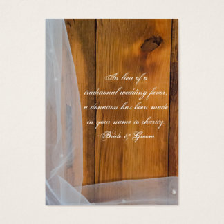 Veil and Barn Wood Country Wedding Charity Favor