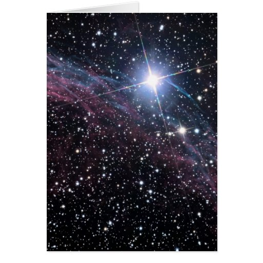 Veil Nebula Greeting Card