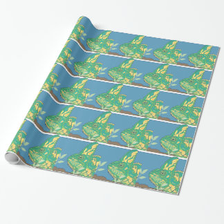 Veiled chameleon glossy wrapping paper
