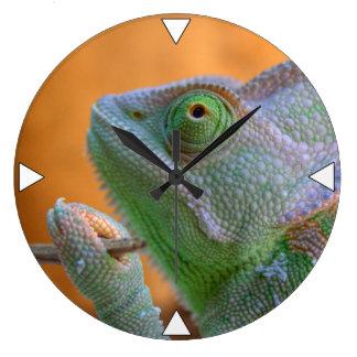 Veiled Chameleon Large Clock