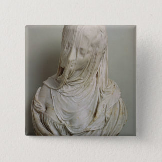 Veiled Girl (marble) 15 Cm Square Badge