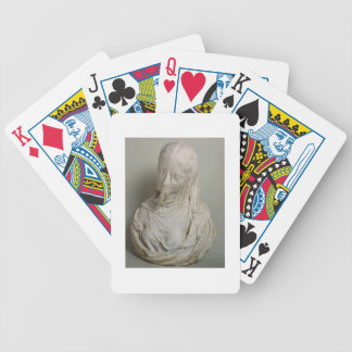 Veiled Girl (marble) Bicycle Playing Cards