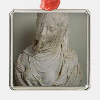 Veiled Girl (marble) Christmas Ornament