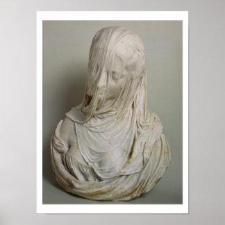 Veiled Girl (marble) Poster