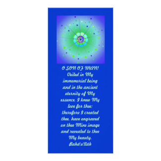 Veiled Hidden Word Quote Customized Rack Card