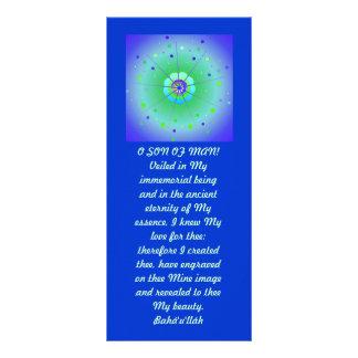 Veiled Hidden Word Quote Customized Rack Card