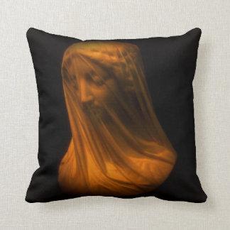 Veiled Madonna Throw Pillow