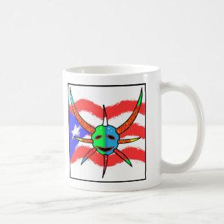 vejigante mask classic white coffee mug