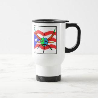 vejigante mask stainless steel travel mug