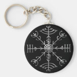 Veldismagn, Iceland, Protection, Rune, Magic Basic Round Button Key Ring