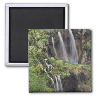 Veliki Slap (Waterfall) Plitvice Lakes National Square Magnet