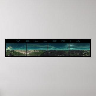 Velloria - 360 degree panoramic frieze print