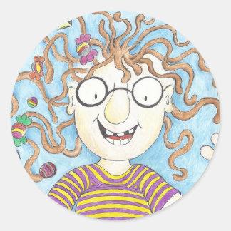 Velma's lollies round sticker