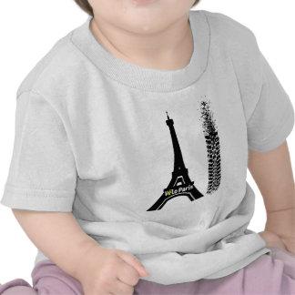 Velo Paris Bike Eiffel Tower Tee Shirt