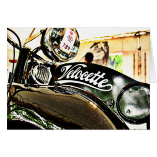 Velocette M Series vintage motorcycle Card