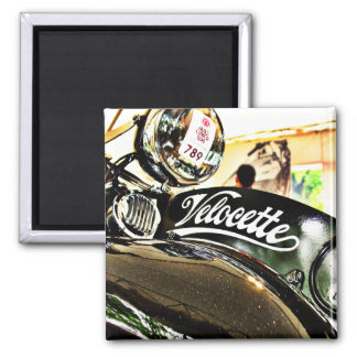 Velocette M Series vintage motorcycle Square Magnet