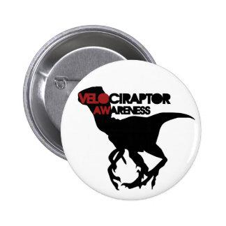 velociraptor awareness 6 cm round badge