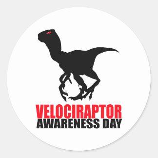 Velociraptor Awareness Day Stickers