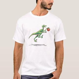 Velociraptor cartoon dinosaur basketball T-Shirt